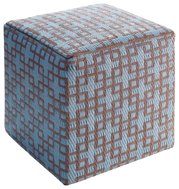 rheinsberg ottoman pouf cube powder blue and warm taupe contemporary floor pillows and. Black Bedroom Furniture Sets. Home Design Ideas