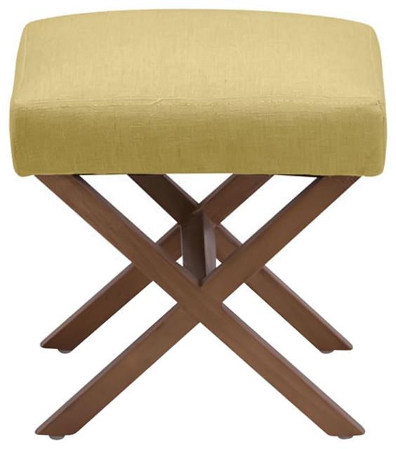 Zuo home living room corinthian stool mustard for Mustard bathroom accessories uk