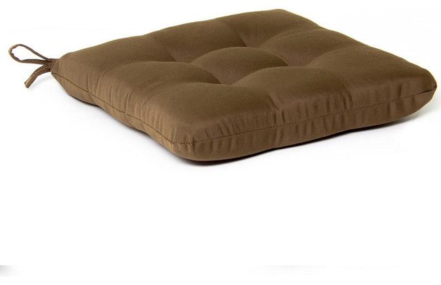 Extra Large Replacement Tufted Seat Cushion Canvas Cocoa Modern Seat Cu