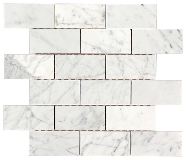 Marble brick mosaic tile traditional tile by all marble tiles