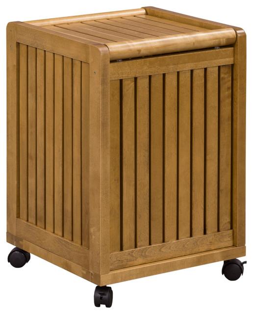 Abingdon mobile hamper with lid cinnamon modern hampers by new ridge home goods - Modern hamper with lid ...
