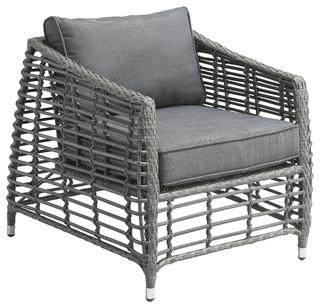 Wreak beach arm chair grey contemporain meuble de for Meuble patio