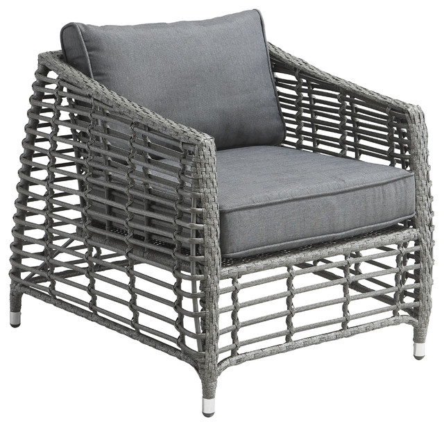 Wreak Beach Arm Chair Grey Contemporary Outdoor Lounge Chairs By Zuo Mo