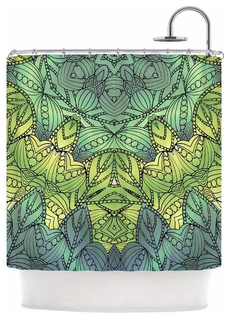 Art Love Passion Fairy Mandala Green Yellow Shower