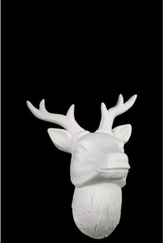 white porcelain deer head wall decor with antlers contemporary