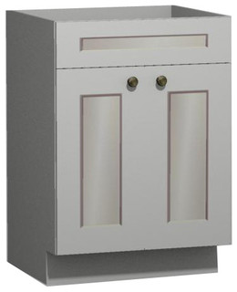 White Shaker 27 inch Vanity from US Cabinet Depot - Traditional - Bathroom Vanities And Sink ...