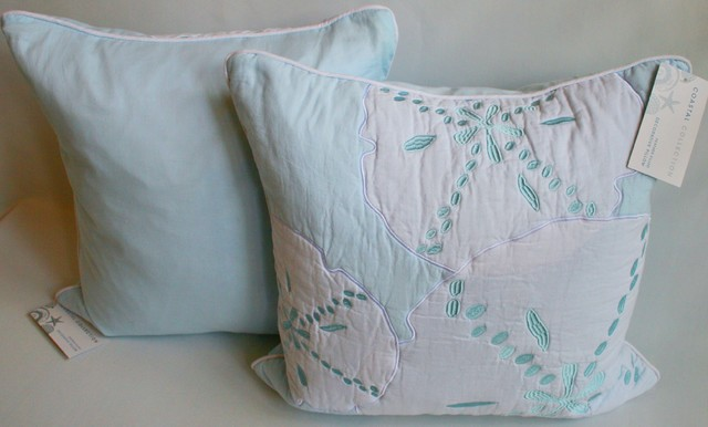 Beach Style Pillows : Sand Dollar Coastal Accent Pillow - Beach Style - Decorative Pillows - other metro - by ...