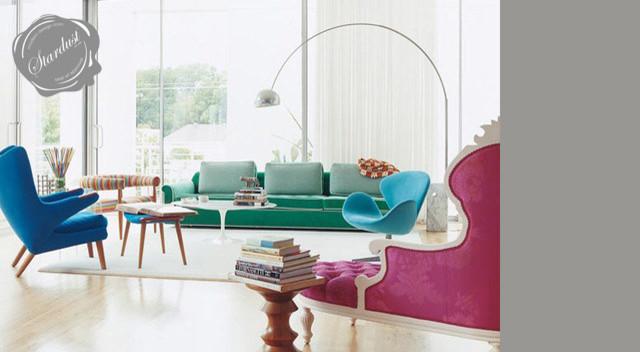 Modern Living Room Design With Flos Arco Lamp Modern