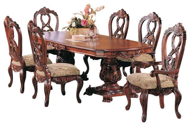 Formal Dining Room Set With Extension Dark Cherry
