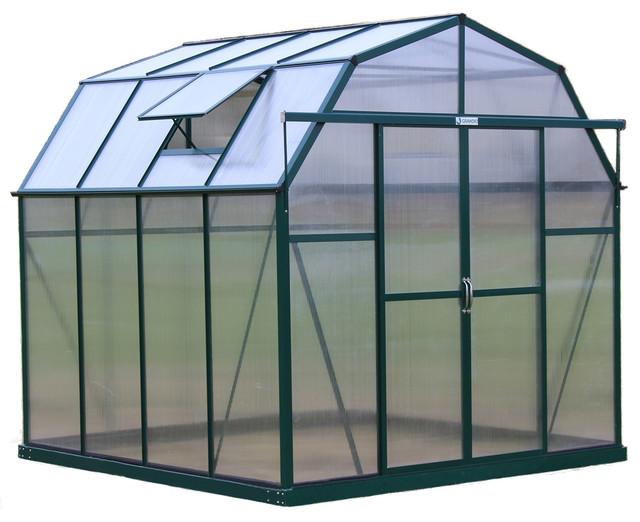 Grandio greenhouses elite barn shaped walk in greenhouse for Traditional barn kits