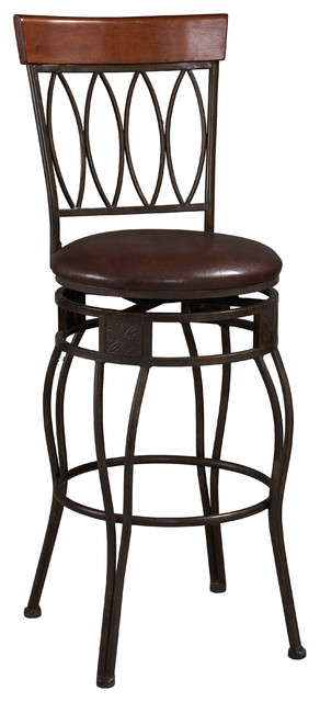 Four oval back counter stool 24 traditional bar - Traditional kitchen bar stools ...