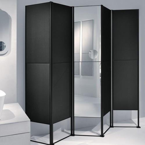 Makro shade 5 door room divider modern bathroom for Room divider for bathroom