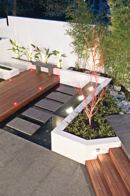 Lansell street contemporary landscape melbourne by for Outdoor furniture kawana