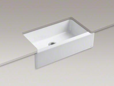 Kohler k 6546 4u dickinson apron front kitchen sink - Kohler dickinson apron front sink ...