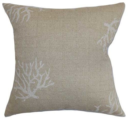 Gray Bed Throw Pillows : Jessamine gray coastal throw pillow tropical