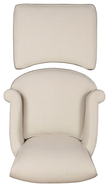 romi chair and ottoman - top - traditional