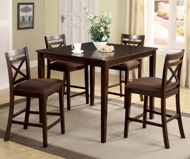 Furniture of America Espresso Westin Transitional 5 piece  : contemporary dining sets from www.houzz.com size 640 x 538 jpeg 111kB
