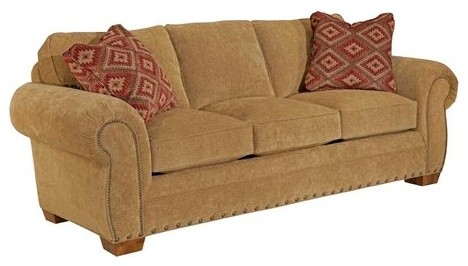 Broyhill Furniture Cambridge Queen Goodnight Sleeper Sofa Transitional Sofas by LuxeDecor