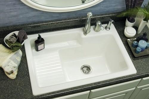 modern laundry room sinks | Advantage Hamilton Self Rimming Laundry Sink - Modern ...