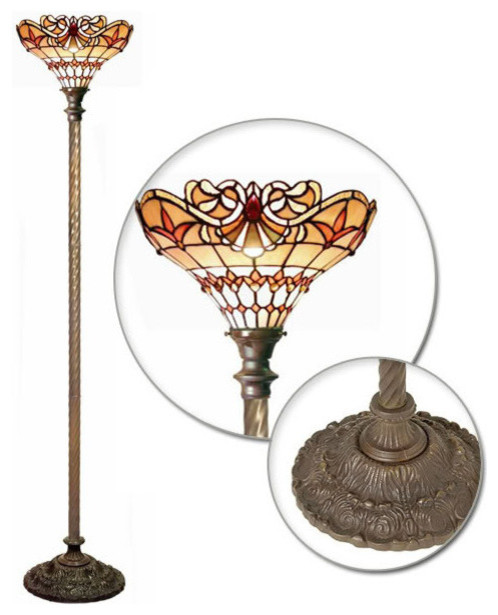tiffany style baroque torchiere traditional floor lamps. Black Bedroom Furniture Sets. Home Design Ideas