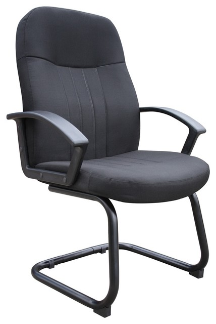 guest chair in black contemporary office chairs by bisonoffice