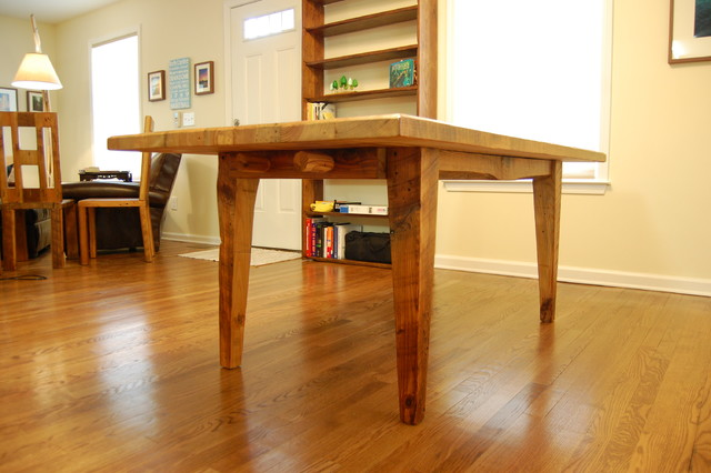 Reclaimed Wood Farmhouse Dining Table Hybrid Style : dining tables from www.houzz.com.au size 640 x 426 jpeg 66kB
