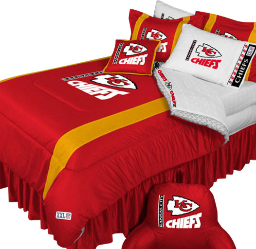 Najarian Nba Youth Bedroom In A Box: NFL Kansas City Chiefs Football Queen-Full Bed Comforter