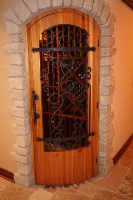 Wine cellar door mediterranean interior doors for Mediterranean interior doors
