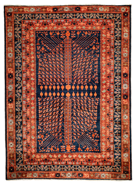 Ziegler Wool Area Rug Red 6x9 Traditional Area Rugs