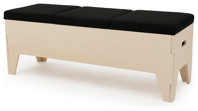 Banc Coffre Design Scandinave 3 Places 116 Cm