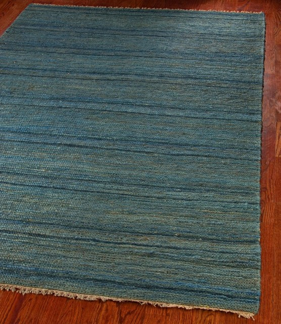 Contemporary organica hallway runner 2 39 6 x10 39 runner blue for Contemporary runner rugs for hallway