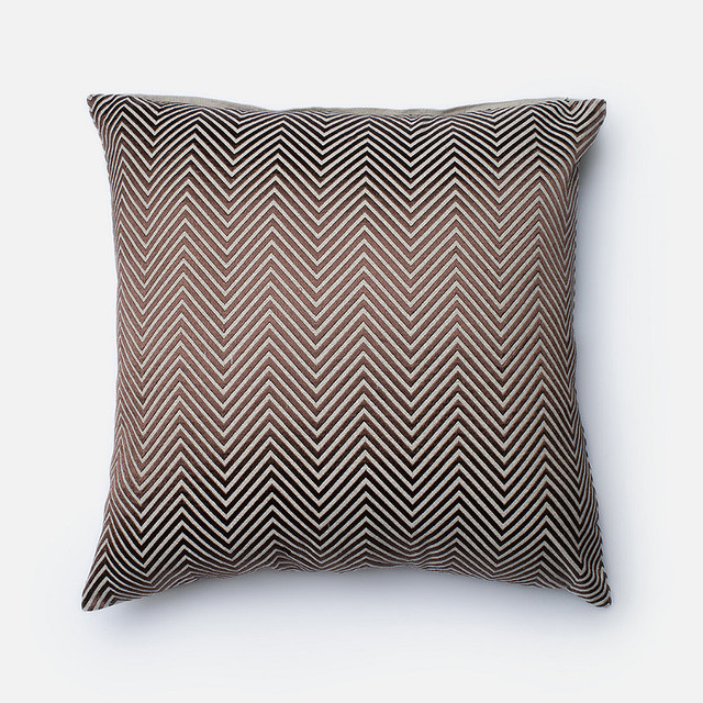 Brown Chevron Throw Pillow - Traditional - Decorative Pillows - by FRONTGATE