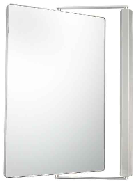 Aptations Metro Brushed Nickel Pivot Mirror Contemporary Mirrors By Lamps Plus