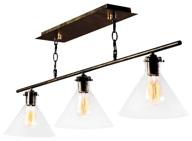 3 Light Kitchen Island Pendant Lighting Fixture