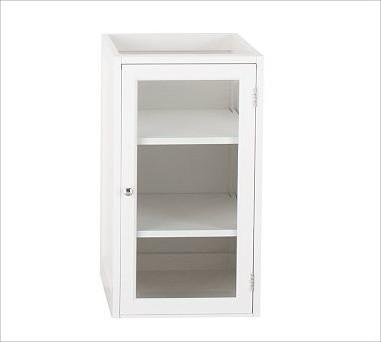 Modular classic console glass door component white - Armadietti per il bagno ...