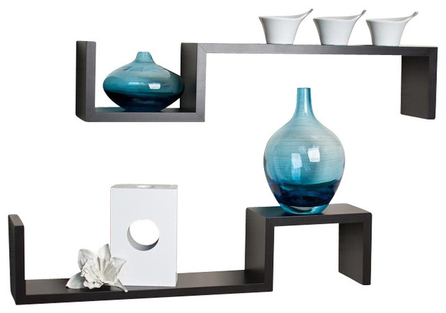 Wall Mount Shelves - Set of 2 contemporary-display-and-wall-shelves