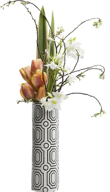 Vase labyrinth 40cm contemporary vases by kare for Kare design gmbh