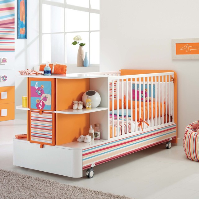 Modern Baby Cots : ... wooden baby cot with storage by Pali modern-cots-cribs-and-cot-beds