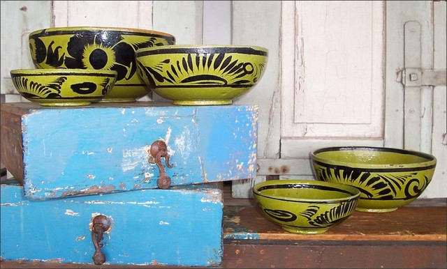 Vintage Mexican Nesting Bowls Eclectic Home Decor Austin By Artisanaworks