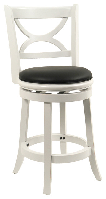 Boraam Florence Swivel Stool In Distressed White