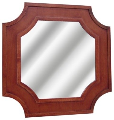 Threshold Carved Wood Mirror Traditional Wall Mirrors
