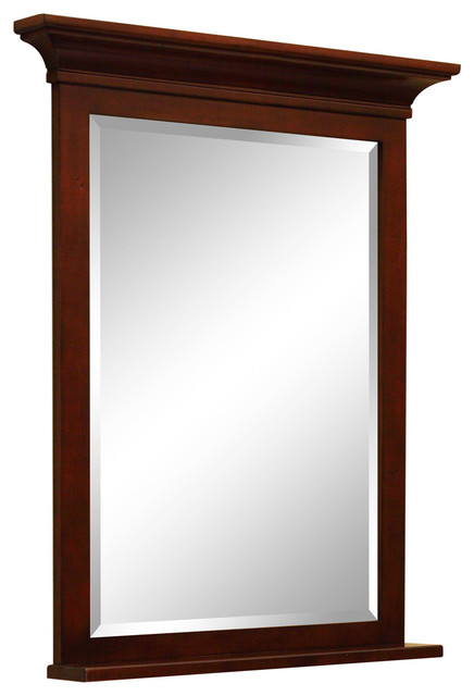 Grand Haven Framed Beveled Mirror Craftsman Bathroom