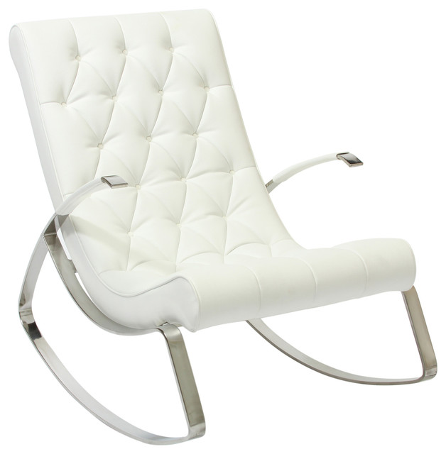 Modern Rocking Chair ~ Barcelona city modern design rocking lounge chair