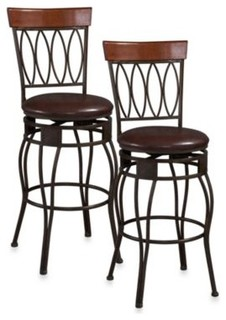 linon home oval back stool contemporary bar stools and