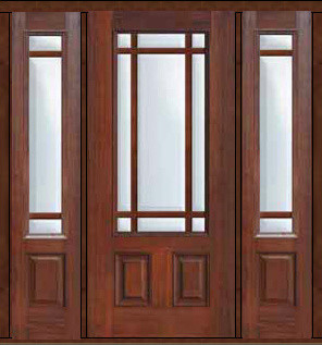 Prehung French Sidelights Door 80 Marginal 9 Lite Marginal