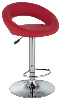 contemporary orbit red adjustable height contemporary bar stool contemporary bar stools and. Black Bedroom Furniture Sets. Home Design Ideas