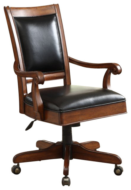 Riverside Furniture Bristol Court Desk Chair in Cognac