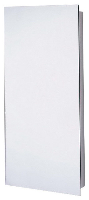 "Euroline Series Slim Style Medicine Cabinet, 16""x30"", Surface Mounted, Polished - Asian ..."