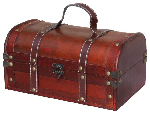 Decorative wood treasure box wooden trunk chest - Baules decorativos ...