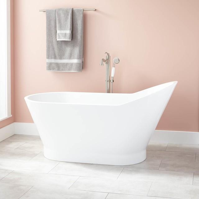 Lynette Acrylic Freestanding Tub Modern Bathtubs By